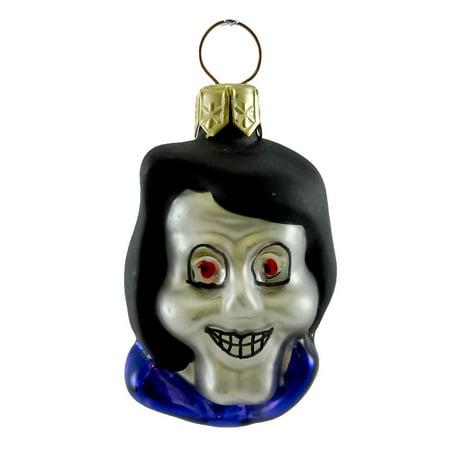Holiday Ornament HALLOWEEN FACES Glass Monster Mni OB3957 HOOD SKULL (Halloween Skull Face)