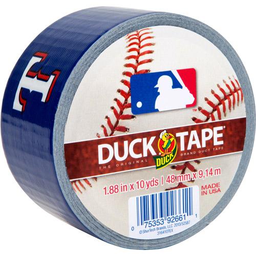 "Duck Brand Duct Tape, MLB Duck Tape, 1.88"" x 10 yard, Texas Rangers"