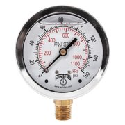"WINTERS 2-1/2"" Lead Free Pressure Gauge,  0 to 160 psi PFQ805LF"