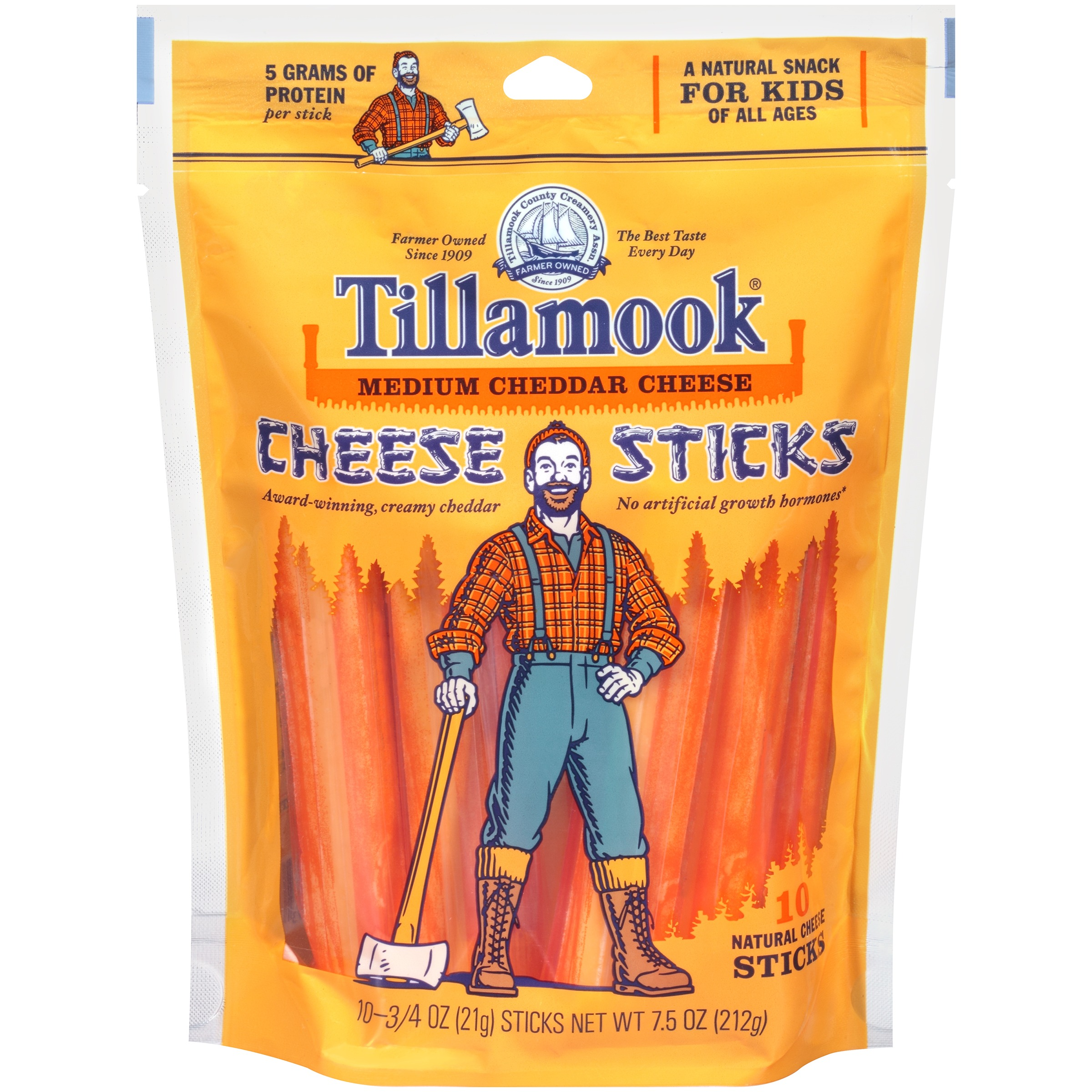 Tillamook® Medium Cheddar Cheese Cheese Sticks 10 ct Pack