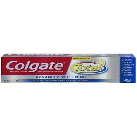 Colgate Total Whitening avancée Dentifrice 7,6 onces (Pack de 6)