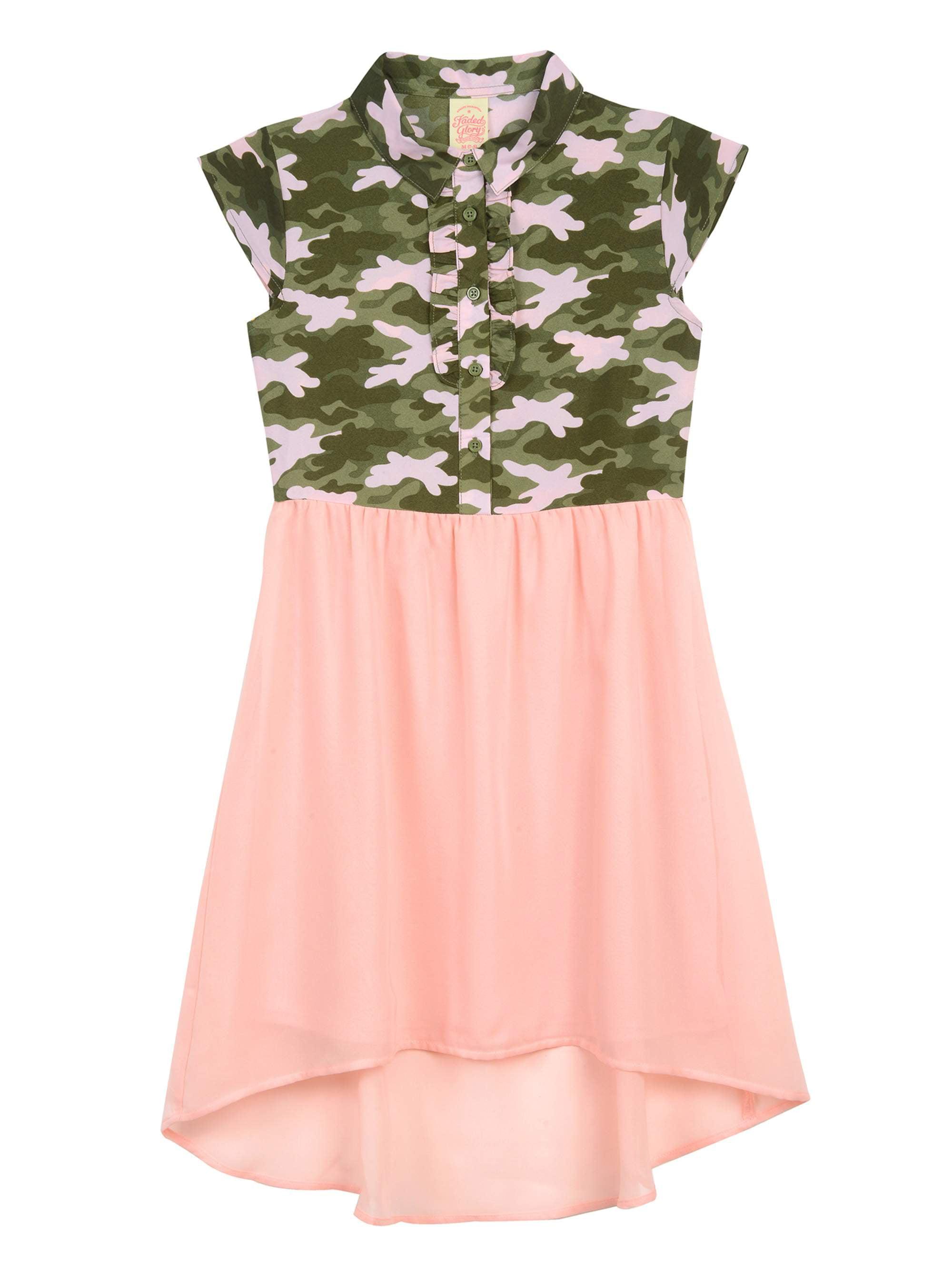 Girls' Hi Low Shirt Dress