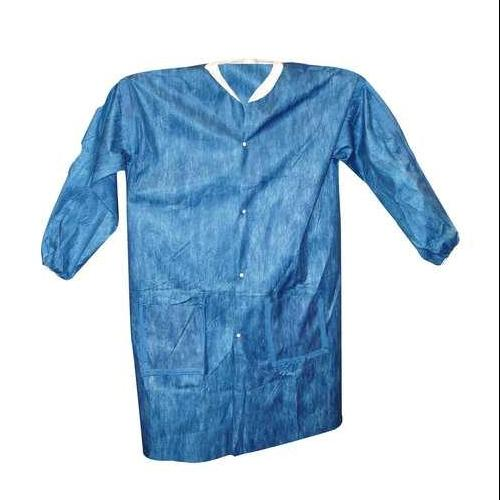 VIROGUARD 2425-5XL Lab Coat, 5XL, Blue, 46-1/2 In. L, PK 50