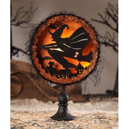 Bethany Lowe Halloween LO6463  Witch's Flight Shadowbox 2017](Halloween Displays 2017)