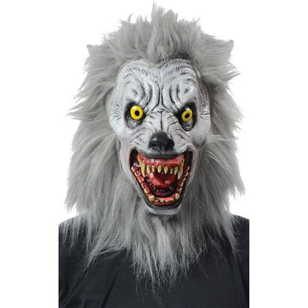 Albino Werewolf Mask Adult Halloween Accessory