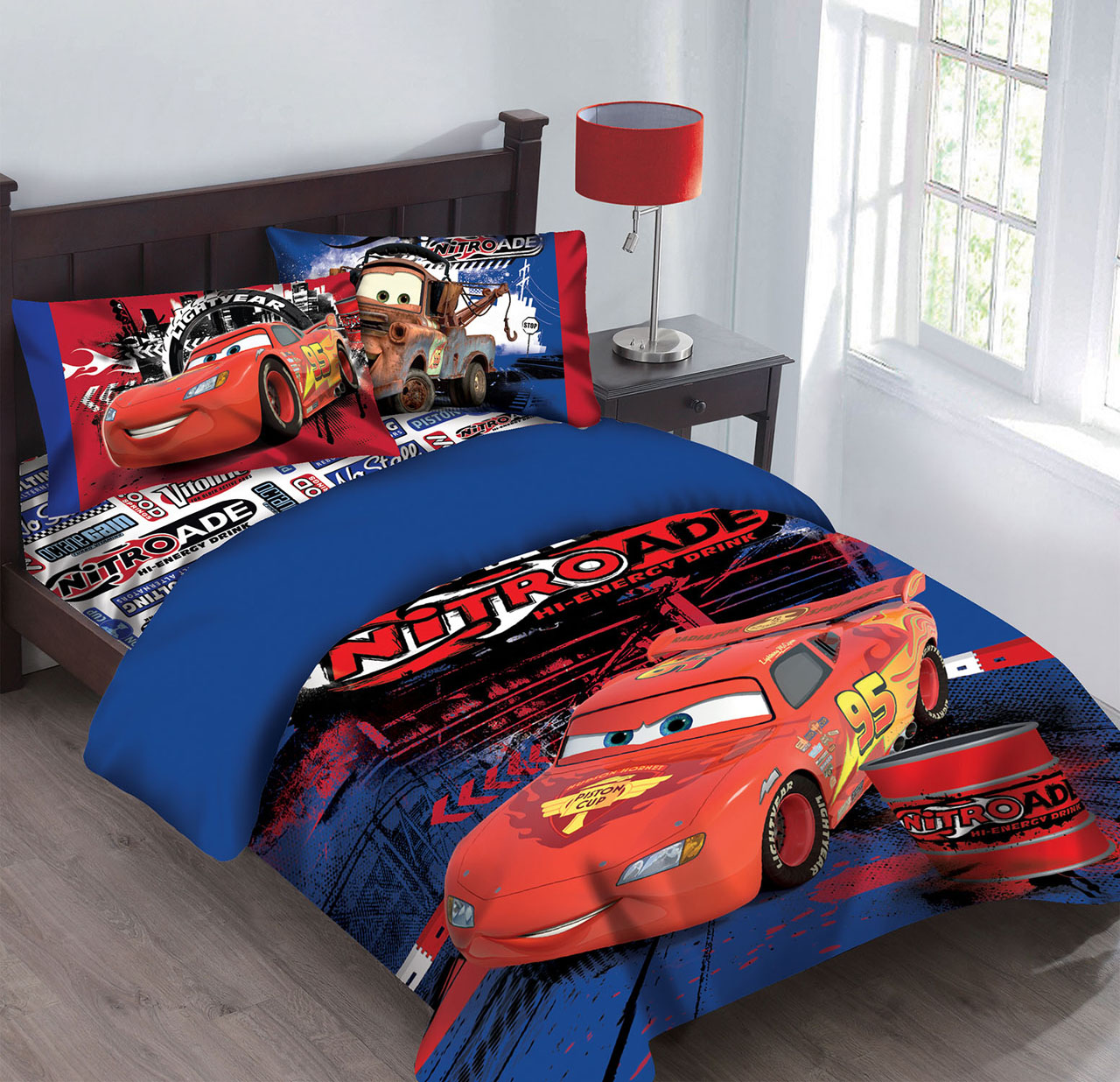 Disney Cars Nitroade Twin Bedding Comforter Set   Walmart.
