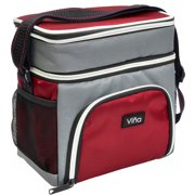 Vina Lunch Bag Cooler Tote Thermal Insulated Double Compartment With Zipper Closure Adjule Shoulder Strap
