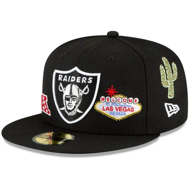 STRIPE Las Vegas Raiders New Era 59Fifty Fitted Cap