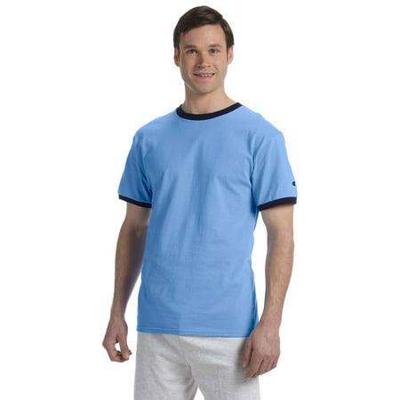 Ringer T-Shirt - Light Blue/Navy - Small