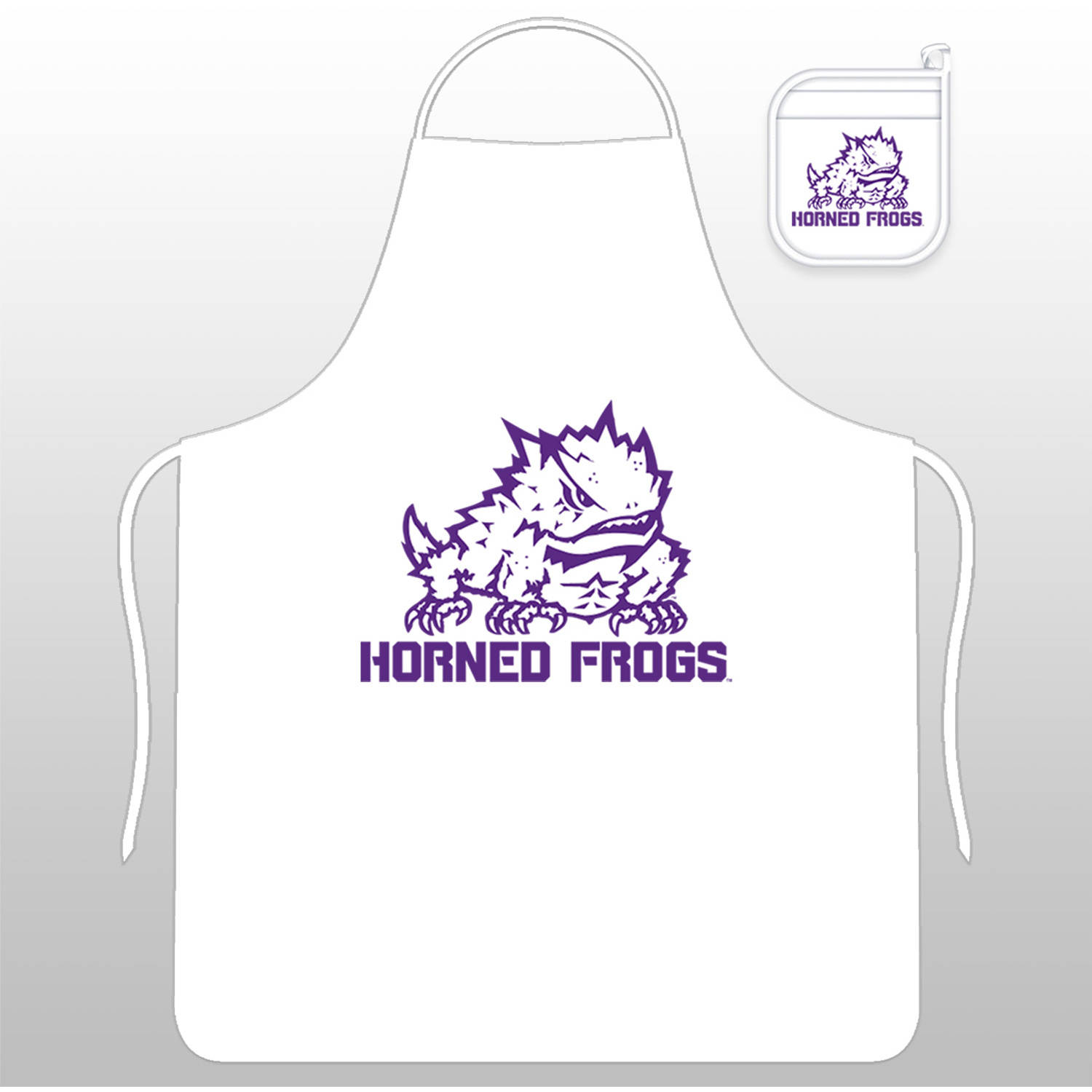 NCAA TCU Tail Gate Kit with Apron and Mitt by Sports Coverage, Inc.