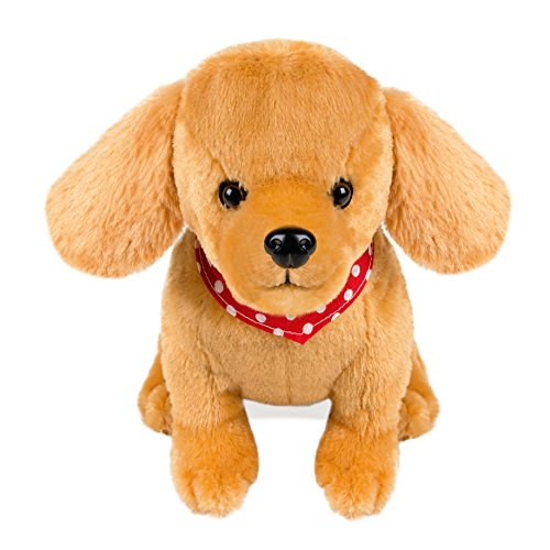 "Soft Puppy Plush Golden Retriever Cuddly Dog Toy 10.5 "" Stuffed Animal Children""s Birthday Gift for Kids Girls Boys"