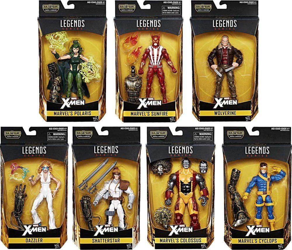 [ Wolverine Cyclops Dazzler Sunfire Polaris Colossus Shatterstar ] X-Men (Warlock Collector Wave 2 Set) Marvel... by