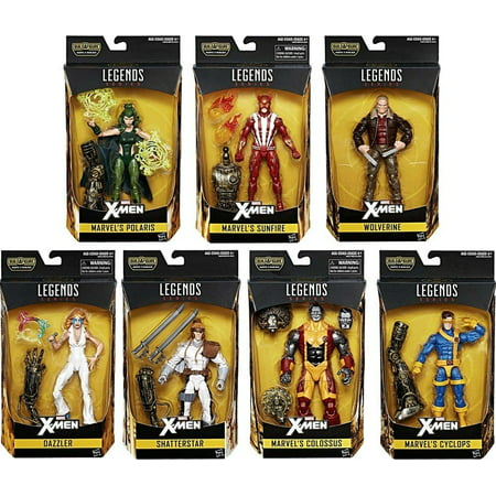[ Wolverine - Cyclops - Dazzler - Sunfire - Polaris - Colossus - Shatterstar ] X-Men (Warlock Collector Wave 2 Set) Marvel Legends Series 6-Inch Action Figure Comic Book Merchindise Toy Collectible