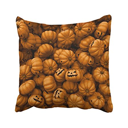 WinHome Happy Halloween Orange Pumkins Funny Expressions Decorative Pillowcases With Hidden Zipper Decor Cushion Covers Two Sides 18x18 inches](Halloween Funny Cover Photo)