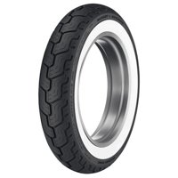 Dunlop Harley-Davidson D402 Rear Motorcycle Tire MU85B-16 (77H) Wide White Wall for Harley-Davidson Road King Custom FLHRS/I 2004-2007