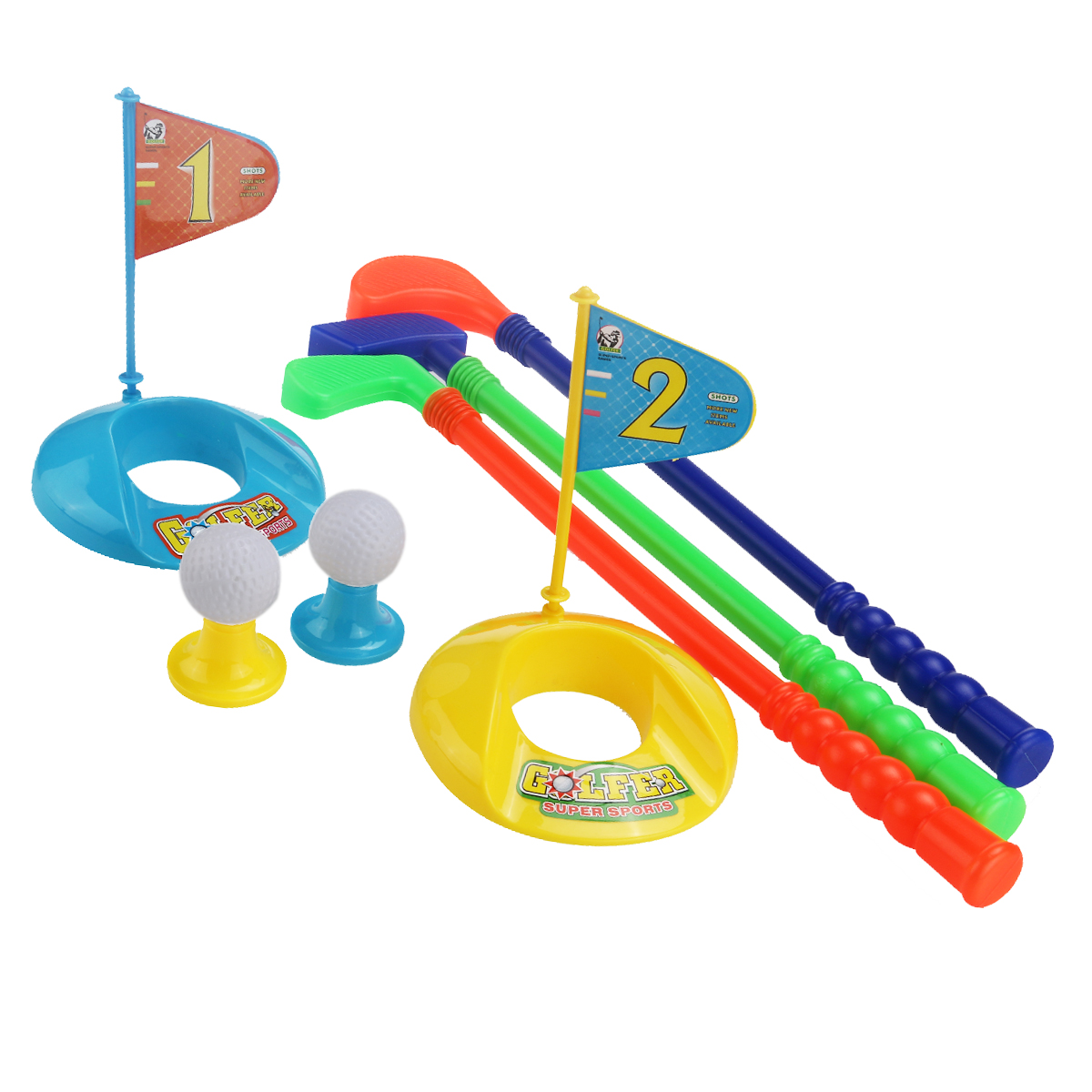 Children Kids Colorful Plastic Golfer Toy Golf Set by