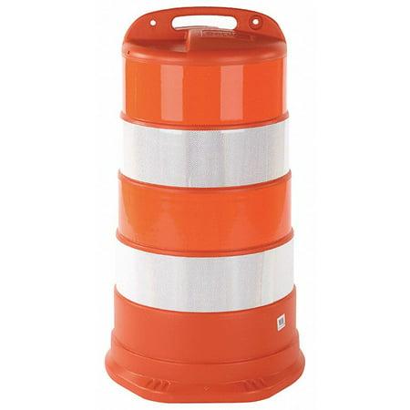 Traffic Barrel, Engineer Grade Sheeting Stripe Material, 41-1/2
