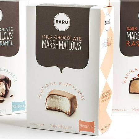 Baru Belgian Marshmallows - Milk Chocolate (4.23 ounce) - Marshmallow Eggs