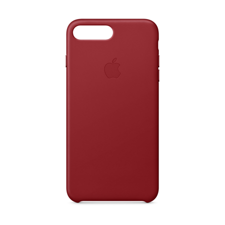 new arrival f87a2 6441b Apple Leather Case for iPhone 8 Plus & iPhone 7 Plus - (PRODUCT) Red