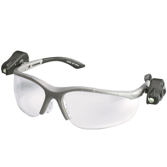 Image of 3M Light Vision 2 Readers 2.0 Diopter Safety Glasses With Gray Frame, Clear Polycarbonate Anti-Fog Lens, Dual LED Lights, Microfiber Bag And Lanyard