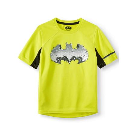 Batman Short Sleeve Performance Tee Shirt (Little Boys & Big Boys) - Cheap Batman Shirt