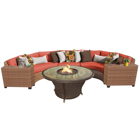 tuscan 6 piece outdoor wicker patio furniture set 06j