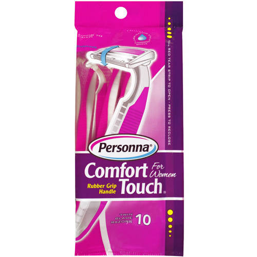 Personna Comfort Touch for Women Twin Blade Razors, 10 count