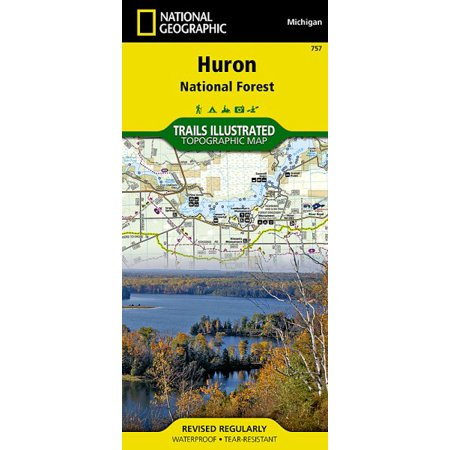 Michigan State Map - Huron national forest, michigan, usa outdoor recreation map: 9781566956550