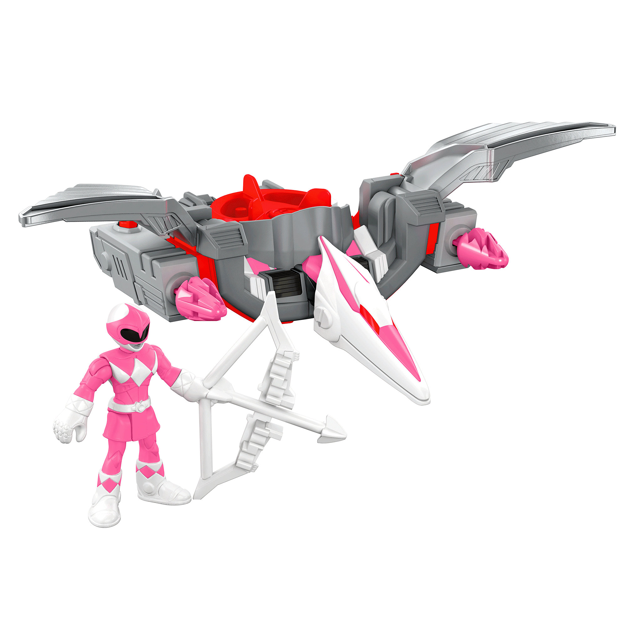 IMaginext Power Rangers Pink Ranger & Pterodactyl Zord by FISHER PRICE