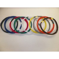 18 GXL HIGH TEMP AUTOMOTIVE POWER WIRE 9 SOLID COLORS 25 FEET EACH 225 FT TOTAL