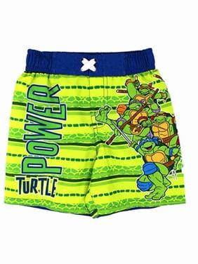 Nickelodeon Toddler Boys Teenage Ninja Turtle Power Swim Trunks Board Shorts