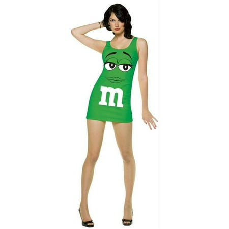 Costumes For All Occasions Gc4043 M&M Tank Dress Green Adult