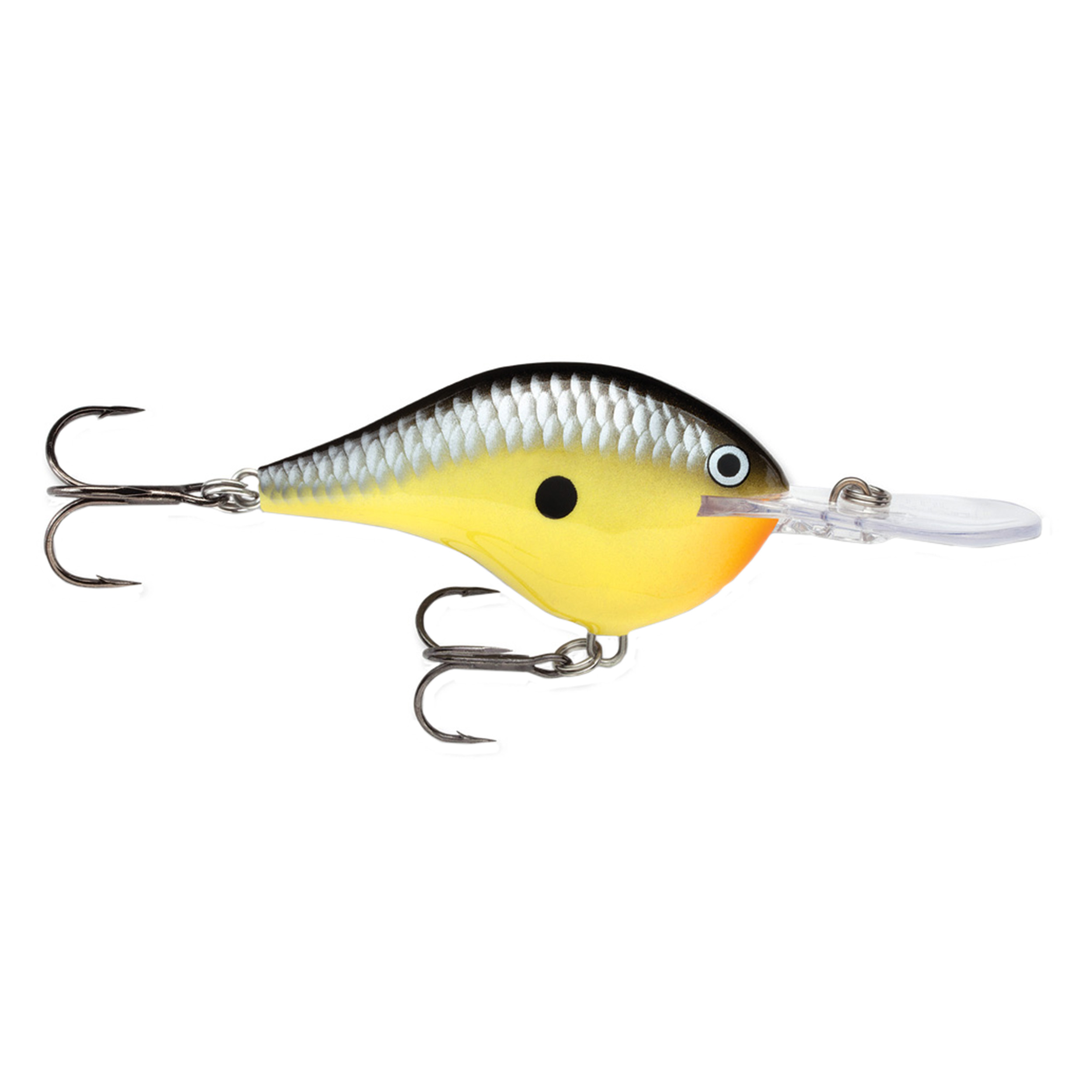 "Rapala Dives-To Series Custom Ink Lure Size 04, 2"" Length, 4' Depth, 2 Number 6 Treble Hooks, Old School, Per 1 by Rapala"