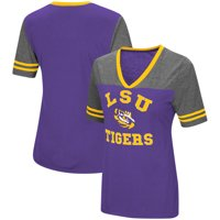 LSU Tigers Colosseum Women's The Whole Package Jersey V-Neck T-Shirt - Purple