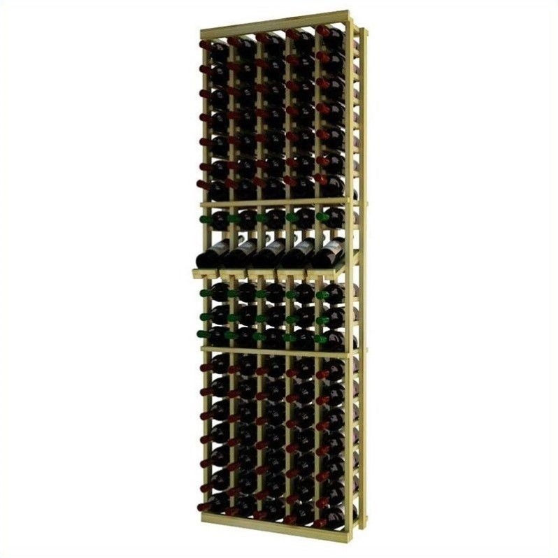 "Wine Cellar Innovations Traditional Series 72"" 5-Column Pine Wine Rack with Display Shelf"