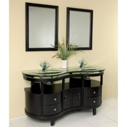 Fresca FVN3331ES Unico Espresso Modern Bathroom Vanity with Mirrors