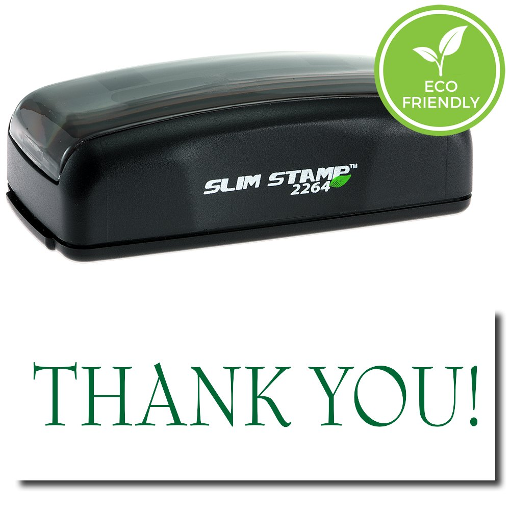 Large Pre-Inked Thank You Stamp with Black Ink