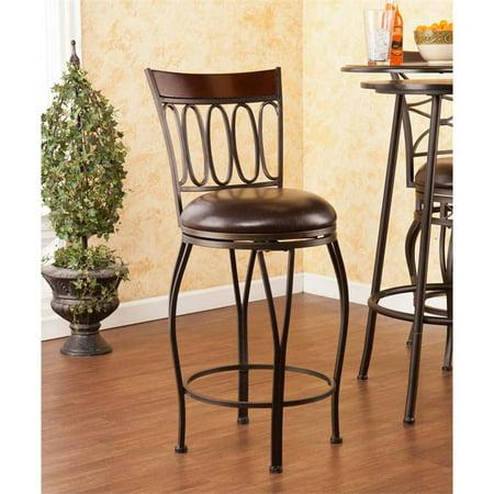 Fantastic Southern Enterprises Brookshire 25 Swivel Counter Stool In Dark Brown Lamtechconsult Wood Chair Design Ideas Lamtechconsultcom