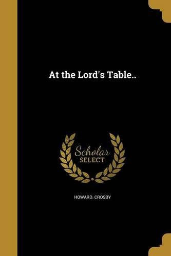 At the Lord's Table.. by