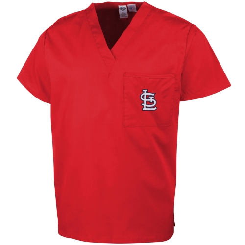 St. Louis Cardinals Concepts Sport Unisex Scrub Top - Red