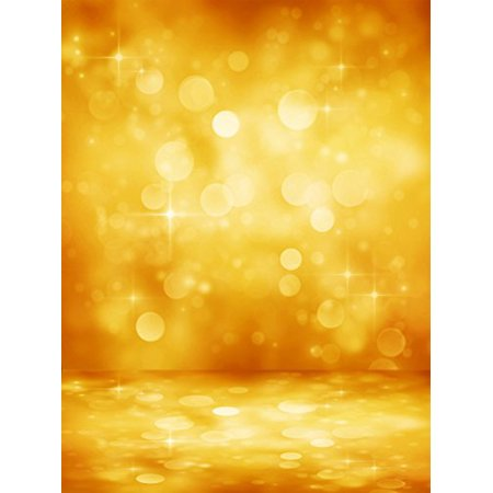 EREHome Polyester Fabric 5x7ft Golden Birthday Party Photo Booth Props Background Shiny Polka for Children Backdrops - image 1 de 2