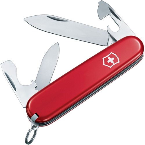 Victorinox Swiss Army Recruit Knife, Red