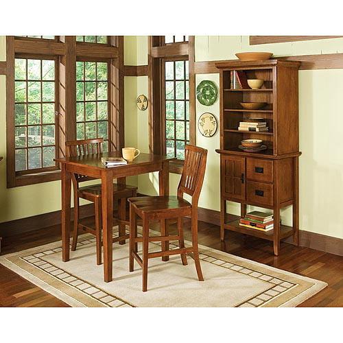 Home Styles Arts & Crafts 3 Piece Pub Set, Cottage Oak