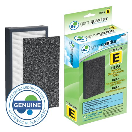 Genuine True Hepa Filter (Germ Guardian FLT4100 True HEPA GENUINE Air Purifier Replacement Filter E for GermGuardian AC4100, AC4150P, AC4150BL, and More)