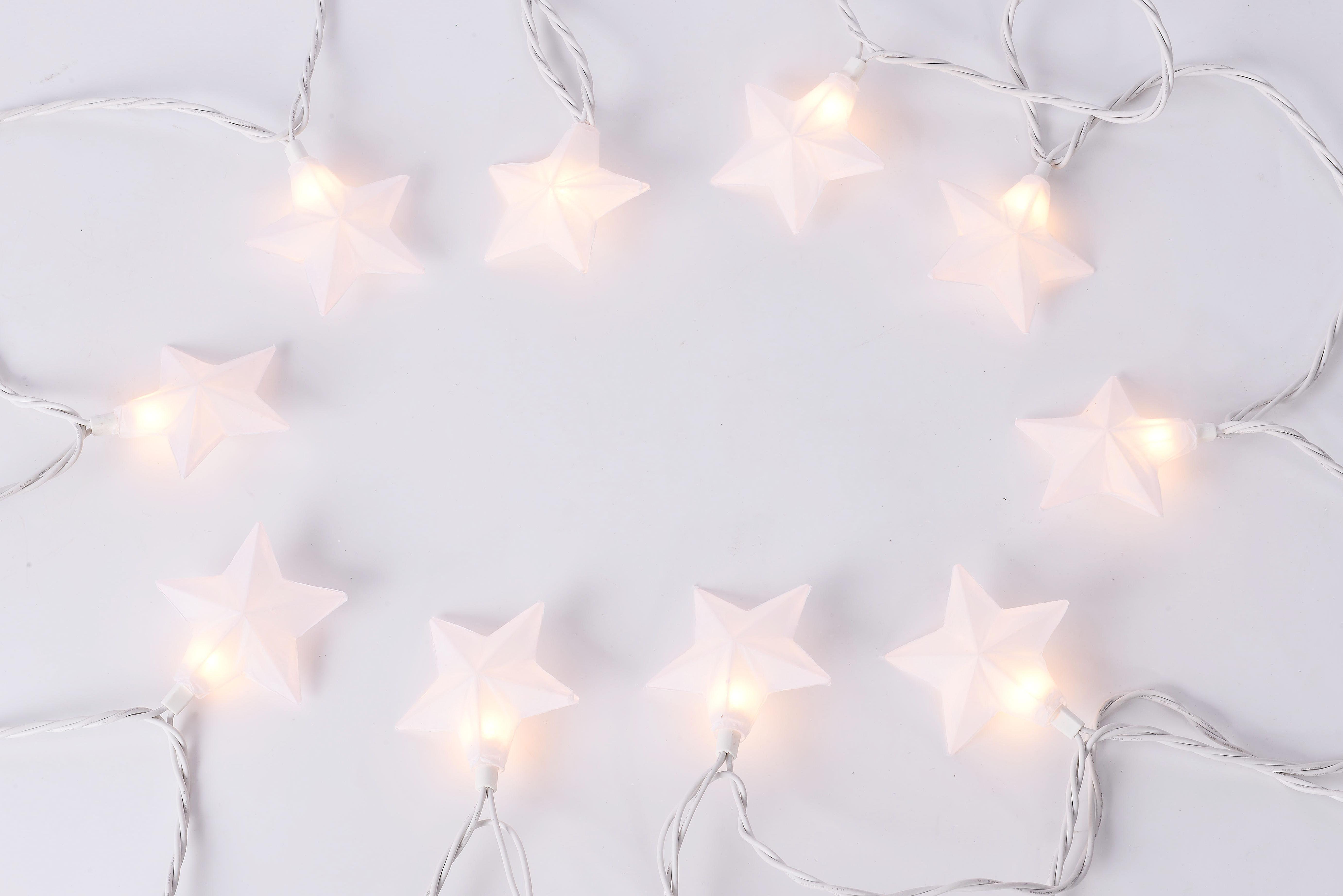 Mainstays 11 6 Star String Lights White 10 Bulbs
