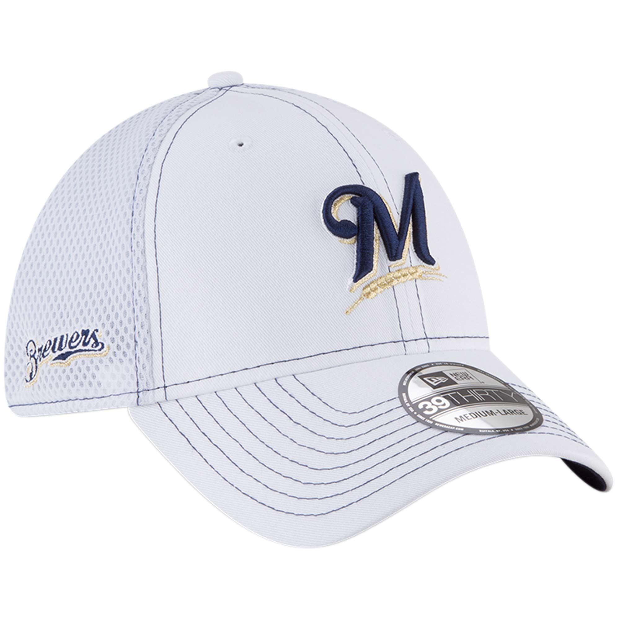 quality design f75ed fb4cb Milwaukee Brewers New Era Team Turn Neo 39THIRTY Flex Hat - White -  Walmart.com