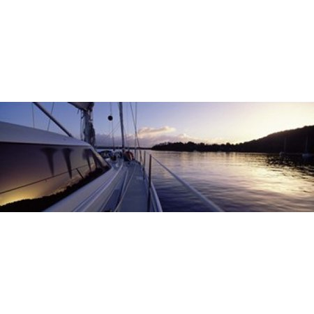 Sailboat In The Sea Kingdom Of Tongavavau Group Of Islands South Pacific Canvas Art   Panoramic Images  36 X 13