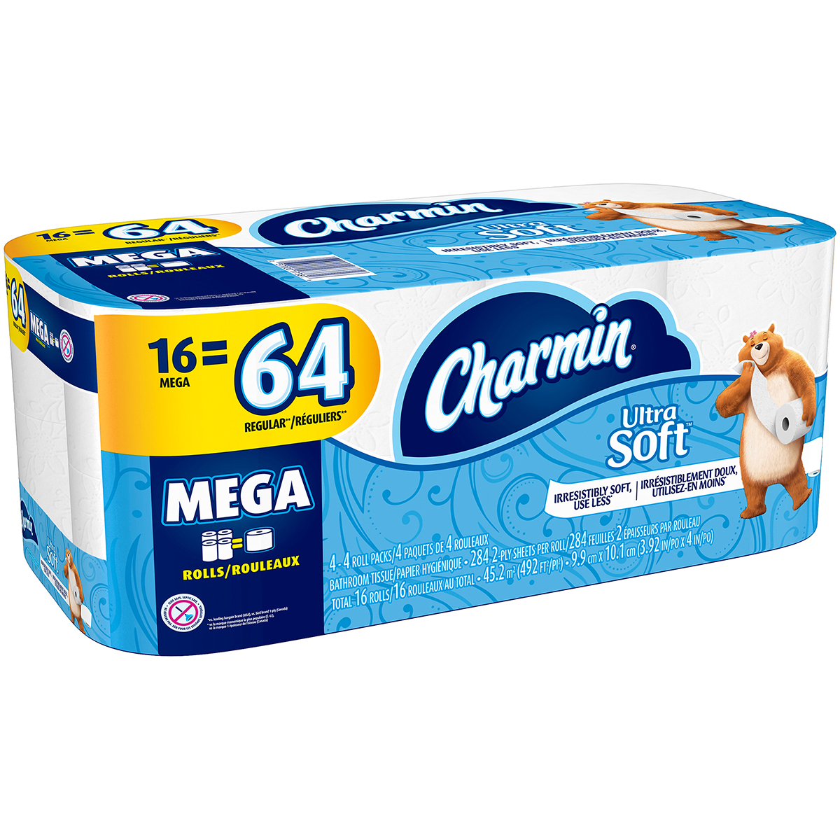 Charmin Toilet Paper, Ultra Soft, 16 Mega Rolls by Procter & Gamble