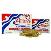 "Alliance Rubber Advantage Rubber Bands - Size: #30 - 2.50"" Length X 0.12"" Width - Biodegradable - 1 Box - Natural (ALL26315)"