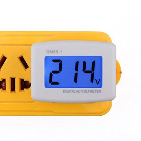 24 Volt Tester - DROKÂ Flat Plug AC 80-300V Voltage Panel Power Line Volt Test Monitor Gauge Met